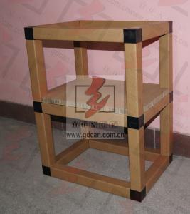 China Corrugated Cardboard Storage Shelves Eco Friendly For Showroom wholesale
