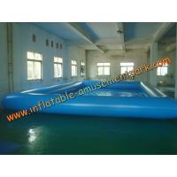 China 10 m x 6m Water Games Inflatable Water Pools  With 0.9mm Pvc Tarpaulin on sale