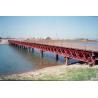 Prefabricated Delta Bailey Bridge / Steel Truss Bridge With Steel Structure