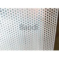China Carbon Steel Metal Perforated PanelsRound Hole , Perforated Stainless Steel Plate wholesale