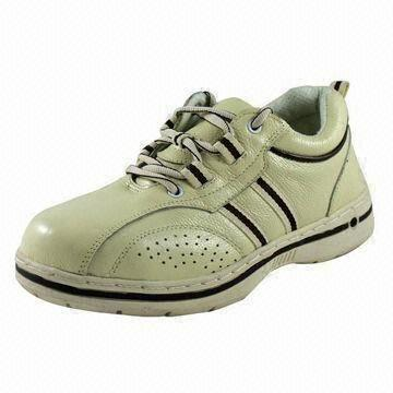 Quality Ladies Rubber Cemented Safety Shoes with Steel Toe Cap for sale