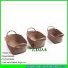 China LUDA household decorative storage boxes wholesale sea grass straw basket wholesale