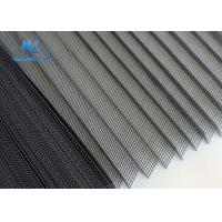 China 18*16 Plisse Insect Screen Grey Color Cold Resistant For Doors And Windows wholesale