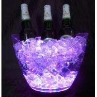 China Customized design Waterproof flashing rechargeable Led Ice bucket with logo for bar on sale