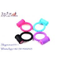 China Colorful Button Sex Vibrating Cock Enlargement Ring 5.5cmX3.5cmX2.2 wholesale