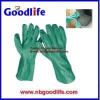 China pvc coated working gloves pvc gloves with long sleeve wholesale