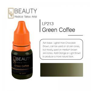 Buy cheap Tinta permanente médica da composição, pigmento verde da tatuagem da sobrancelha do café from wholesalers