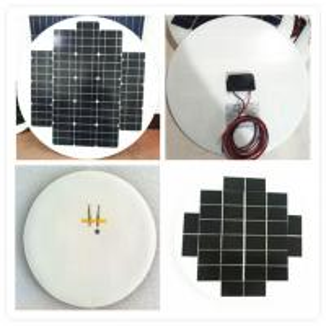 China 7W Circle Solar Panel, Anti aging EVA, White / Black TPT, Flexible Installation on sale