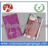 China Pink Foil Plastic Ziplock Bags For T Shirt , resealable plastic bags wholesale