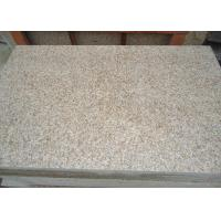 Buy cheap Honed surface G682 sunset gold granite stone tiles, rusty yellow stone floor from wholesalers