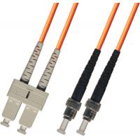 Quality multimode Duplex Fiber Optic Patch Cable 3M ST-SC 62.5/125 Orange for sale
