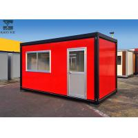 China Red Flat Pack Container House , Single Container House For Living / Administration wholesale