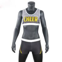 China Custom Sublimated School Cheer Dance Clothes Bra And Shorts Eco Friendly wholesale
