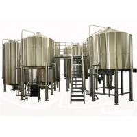 China 35BBL Large Brewing Equipment Semi Auto Controlling SUS304 / 316L Steam Heating wholesale