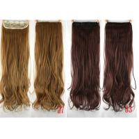 China Colored Clip In Synthetic Hair Extensions Fake Hair Wigs For White Women wholesale