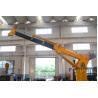 China Ship Crane Electro - Hydraulic Marine Deck Crane 8T 15M Remote Control Telescopic Boom wholesale