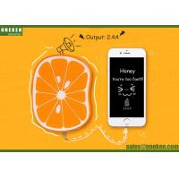 China Smart Orange Li-Polymer Power Bank 109 X 74 X 20mm 6000mAh Capacity wholesale