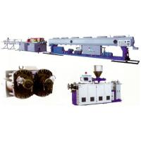 Buy cheap UPVC CPVC Plastic Pipe Extrusion Line With Double Screw Extruder from wholesalers