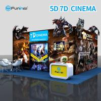 China Electric 7D 5D Cinema Simulator For Home Theater With Leg Sweep wholesale