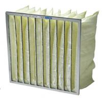 China High performance low pressure drop bag air filter media / pocket air filter for AHU, ACU, room air purifiers wholesale