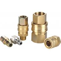 China Straight Through Interface Hydraulic Quick Connect Couplings High Flow Manual Sleeve Type ST Series wholesale