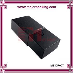Black art paper slider drawer box, luxury design paper box for Suit Tie ME-DR007