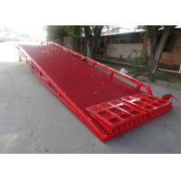China Single Safety Fence design Mobile Yard Ramp For Container or Truck wholesale