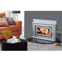 China Contemporary Wood Burners , Indoor Wood Burning Fireplace Inserts With Marble on sale