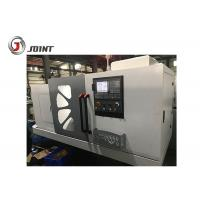 China 11kw Spindle Motor Flat Bed CNC Lathe Machine Steel Headstock Gears Included wholesale