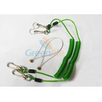 China Green Tool Safety Lanyards , Plastic Coiled Lanyard Cord For Scaffolding wholesale