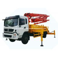 China 26m -31m Small Mobile Concrete Mixer Pump Truck With DFAC King Run Chassis wholesale