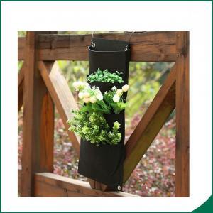 Buy cheap Плантатор сада стены 4 карманов черным/завод балкона повторно использованные цветом вертикальные растут сумка from wholesalers