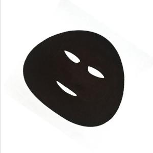 China OEM factory black mask facial dry disposable beauty face mask paper face mask black disposable wholesale