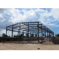China Light Steel Structure Warehouse With Crane / Prefabricated Metal Building With Crane wholesale