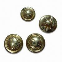 China Polyester Resin Buttons with Gold Plating, Customized Designs are Accepted wholesale