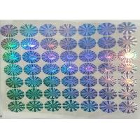 China PET Security Anti Fake Label Sticker Multichannel Hologram Code Printing With Logo wholesale