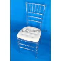 China Fireproof Clear Resin Chiavari Chair With Cushion / Ergonomic Office Chairs wholesale