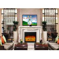 China Home  Living Room Furniture White Freestanding Electric Fireplace And TV Stand on sale