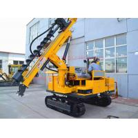 Buy cheap 50M depth hydraulic photovoltaic pile hole drilling rig , Crawler mounted SOLAR pile hole drilling equipment from wholesalers