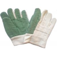 Knit Cuff Gardening Heat Resistant Gloves Natural White Absorbing Sweat