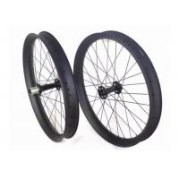China Tri Spoke Tubeless Carbon Fat Bike Wheels Clincher Aero Roof Surface For Cycling wholesale
