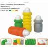 China PE soccer foldable water bottle(foldable drinking bottle) wholesale