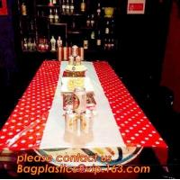 China Colorful Polka Dot Table Cloth Plastic Tablecloth Cover for Wedding Birthday Party Supplies/Decoration BAGEASE BAGPLASTI wholesale