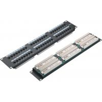 China UTP 48 Port Patch Panel 2U AMP Type Cat5e Patch Panels for Computer Center YH4015 wholesale