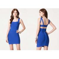 China Summer Double Strap Bodycon Dress Chic Cutout Back for Adults wholesale