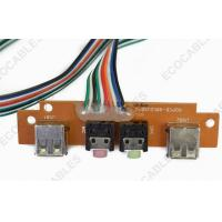 China PCB 10 Pin Flat Ribbon Cables With USB A Male / Audio Connector on sale
