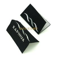 China Centrefold Woven Clothing Labels Low Minimum With Logo For Damask Textile Products wholesale