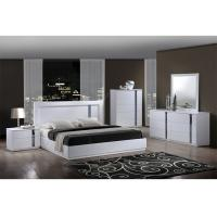 Buy cheap King Size High Gloss Bedroom Furniture Set Lacquer Painting With White / Blue from wholesalers
