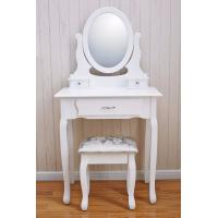 China Best Selling Wooden makeup vanity dressing table Vanity table Cushioned Stool wholesale