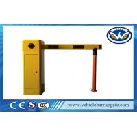 China Yellow Car Park Barriers With 1 - 6 meters Straight Boom For Car Parking System wholesale